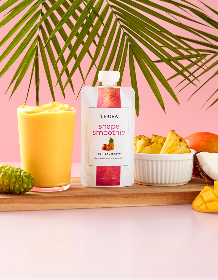 "<span style=""color:#dc4487"";>TeOra <br />Shape Smoothie</span>"